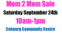 Mom 2 Mom Sale!! Vendor Space Available