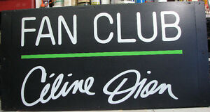 Céline Dion Fan Club enseigne