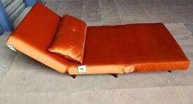 Fabric Chair bed - Orange.