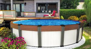 Fermeture piscine hors terre / Service avant l'hiver/ Réparation