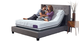 New Queen Adjustable bed with Eurotop Mattress $988
