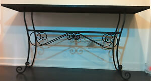 Wrought  Iron Console Table For Sale