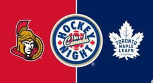 LEAFS AND SENS SATURDAY OCT 6 SCOTIABANK ARENA PAIR FOR 400