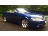56000 MILES ONLY CONVERTIBLE 2002 SAAB 9-3 SE 2.0 TURBO (154 BHP) 12 MONTHS MOT LEATHER