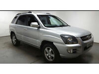 2008(08)KIA SPORTAGE 2.0 CRDi XS 4WD MET SILVER,NEW MOT,6 SPEED,GREAT VALUE