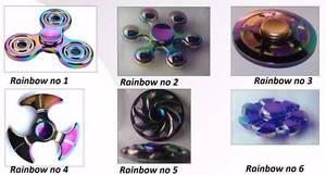 Fidget Hand Spinner Rainbow Metal/Alloy-Bedsheet-Notebook Cover Holland Park Brisbane South West Preview