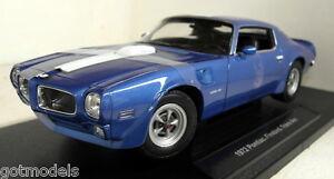 Nex 1/18 Scale 12566W 1972 Pontiac Firebird Trans Am Blue Diecast model car