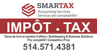 IMPÔT - TAX - Accounting, Bookkeeping, GST-QST Filing...etc