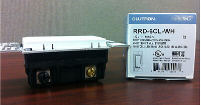 Lutron RRD-6CL-WH Receiver Ra2 RadioRA RA Dimmer - NEW IN BOX