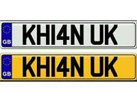 KHAN UK - A VERY SPECIAL ASIAN NAME ON A PRIVATE NUMBER PLATE FOR SALE