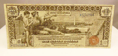 1896 US $1 Dollar Educational Silver Certificate Paper Money Note Very Fine