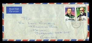 BRITISH-ANTARCTIC-TERRITORY-1974-ADELAIDE-ISLAND-AIRMAIL-to-GB-6p-10p