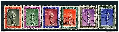 LUXEMBOURG - 1937 Child Welfare Set Used as Scan