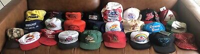 Lot Of 25 80's 90's Hats SnapBack Flex USA Trucker NASCAR More Wholesale Resell