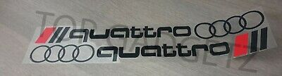 2 x AUDI QUATTRO LOGO RINGS CAR VINYL STICKERS / DECALS SIDE SKIRT GRAPHICS