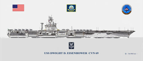 USS Dwight D Eisenhower  CVN-69 with PO 1 insignia   US Navy