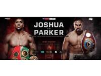 Anthony Joshua v Joseph Parker FLOOR SEATING