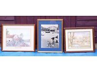 20 Assorted Picture frames - job lot, most with glass.