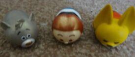 3 Genuine tsum tsum Disney zootopia Nick Wilde, baloo and star wars Han Solo Stack Vinyl £2 the set