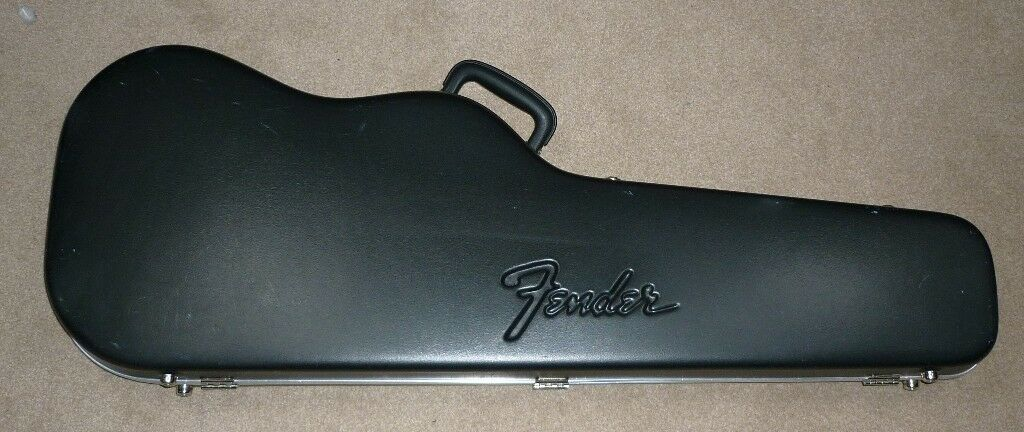 sold genuine fender guitar chainsaw case for strat stratocaster or tele parts discussions. Black Bedroom Furniture Sets. Home Design Ideas