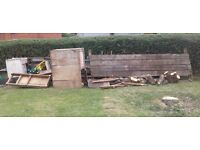 Firewood...old garage cupboards and fencing...free to collector...st5 area