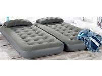 Double air mattress bed 3 in 1 with rechargeable pump