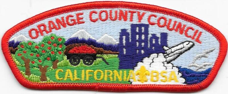 Orange County Council Strip Plastic Back CSP SAP Boy Scout of America