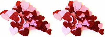 60 Foam Heart Glitter Table Scatter Valentine's Crafts Asst. Sizes Colors ~Qty 2 Valentine Foam Crafts