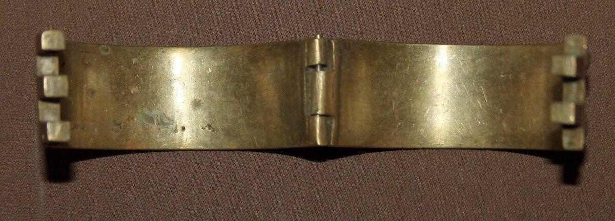 ANTIQUE GREEK FOLK HAND MADE BRASS HINGED BRACELET
