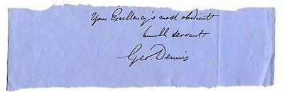 GEORGE R. DENNIS - orig. Autograph, Echtheitszertifikat (COA)