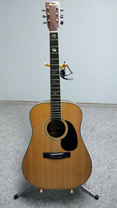 Harmony Acoustic Guitar with stand, capo, & pics