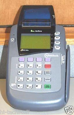 Verifone Omni 3200se Credit Card Terminal Printer Pos