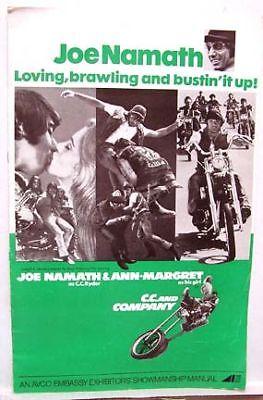 1970 Pressbook C.C. & COMPANY JOE NAMATH ANN-MARGRET