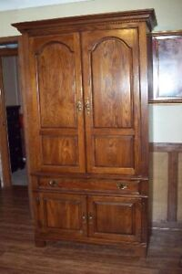 Custom made Armoire, real wood,(no pressed saw dust)