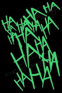 Joker Laugh LIME GREEN  STICKER VINYL DECAL SUICIDE SQUAD HARLEY QUINN BATMAN