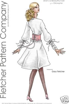 Beautiful Girl Doll Clothes Sewing Pattern for Ellowyne Tonner