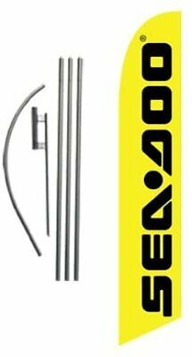 Seadoo Advertising Feather Banner Swooper Flag Sign With Flag Pole Kit And...