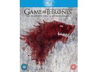 Game of Thrones Seasons 1&2 box set Blu-ray