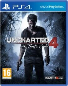 UNCHARTED 4 PLAYSTATION 4 GAME