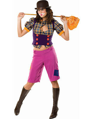 Cute Clown Halloween Costumes (Hobo Honey Clown Circus Rodeo Cute Dress Up Halloween Deluxe Adult)