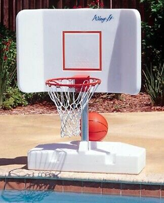 Wing-It Water Basketball Hoop Game for Inground Swimming Pools by Pool -