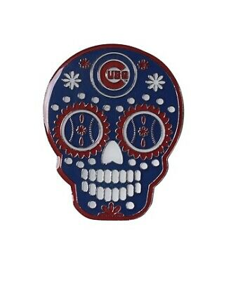 Chicago Cubs MLB Sugar Skull Day of the Dead Lapel Pin
