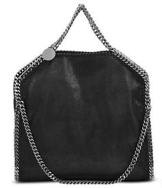New Stella McCartney Fallabella Soft Leather Handbag Bag Black Chain High Quality