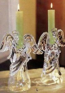 Princess House Crystal candle holders--Angels with Wings!