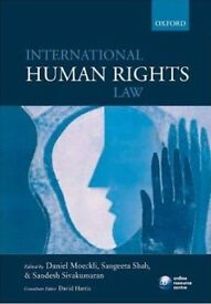 Trinity Law book: International Human Rights Law ISBN 9780199560257