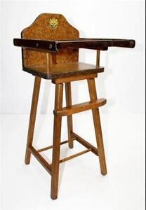 wooden high chair ebay