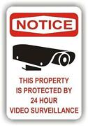 Video Surveillance Sign Aluminum