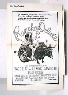 1975 Pressbook RANCHO DELUXE Jeff Bridges