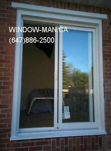 concrete egress Cut brick sliding door windows  Good Job