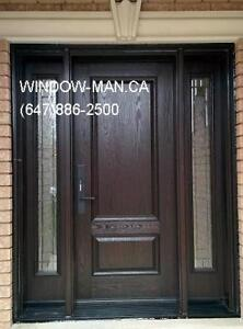 Exterior Fiberglass Entry Replacement Door  modern or traditiona